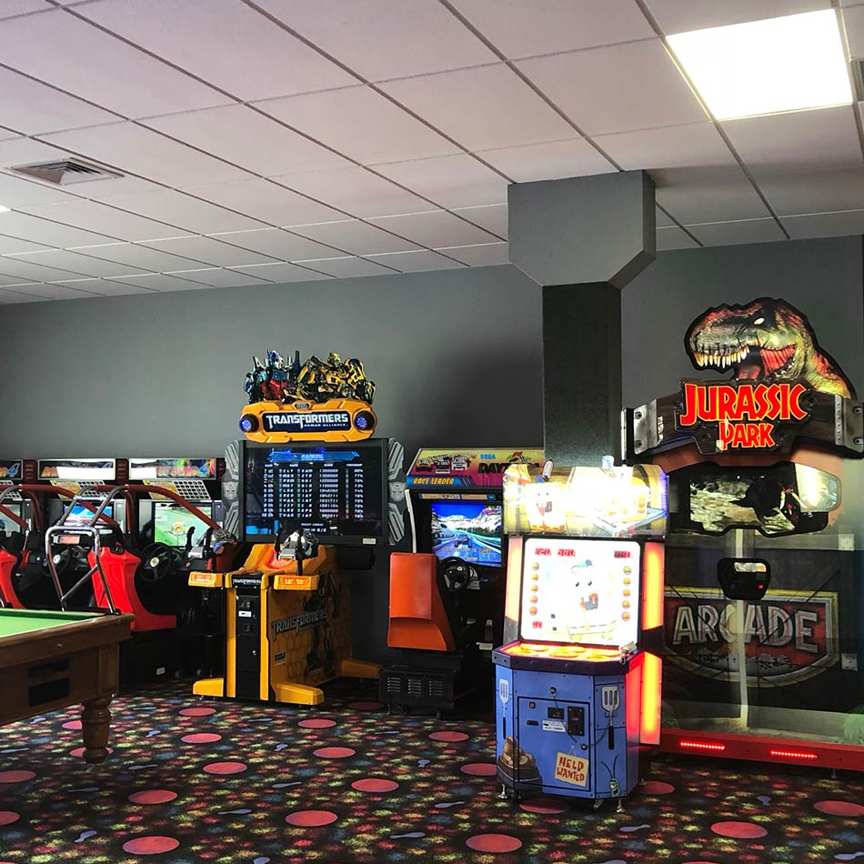 arcade games at bowlarama