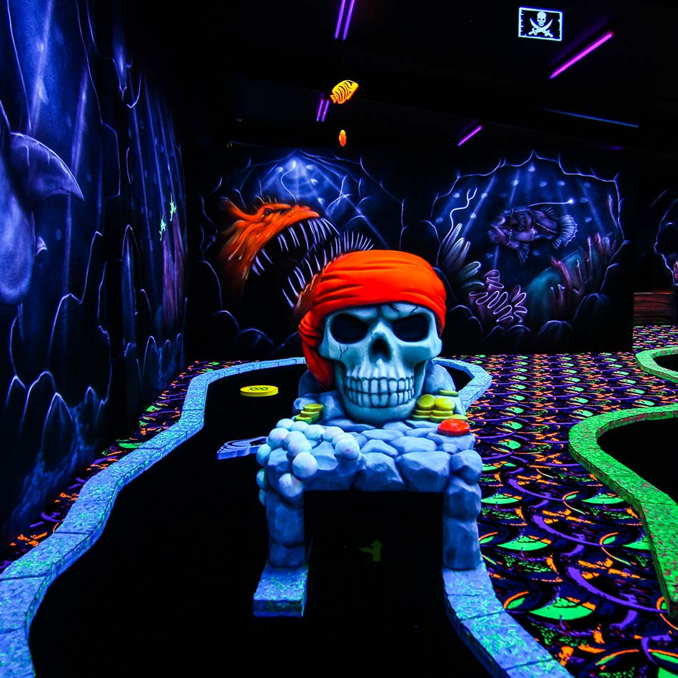 black light mini putt